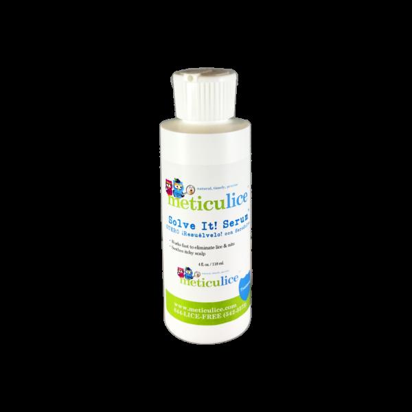 Meticulice Head Lice Professional Removal & Treatment Combing SolveIt! Serum 4oz. ~ Eliminación y tratamiento de piojos de cabello Combinar SolveIt! Suero 4oz