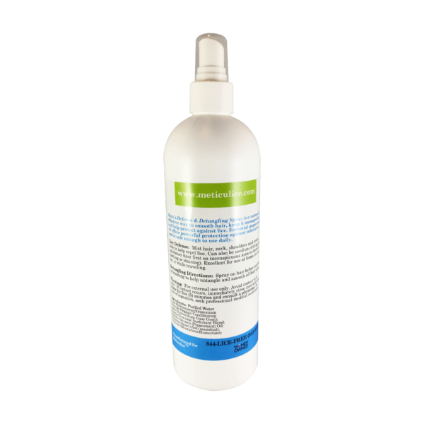 Meticulice Head Lice Prevention Treatment Defense & Detangling Conditioning Spray 16oz. ~ Prevención de Piojos de defensa y del spray desenredante  16 oz