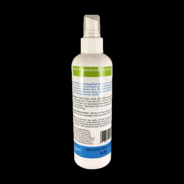 Meticulice Head Lice Prevention Treatment Defense & Detangling Conditioning Spray 8oz. ~ Prevención de Piojos de defensa y del spray desenredante 8 oz